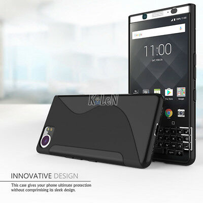 For BlackBerry KEYone Case Black S Line Gel Cover Skin Shell TPU Silicone Case