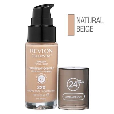 REVLON ColorStay Makeup for Combi/Oily Skin (220 Natural Beige) SPF20 NEU&OVP