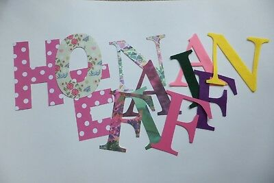 12 stick-on large letters 10cm for craft projects, gifts, decor, scrapbooking