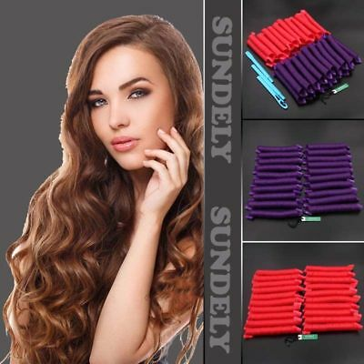 40 Pcs Hair Curlers Twist Spiral Circle Curl Ringlets Magic Rollers Styling Tool