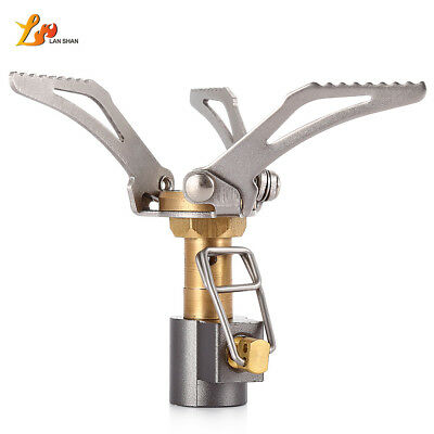 Ultralight Folding Titanium Alloy Cooking Burner Gas Stove 3000W Camping Hiking