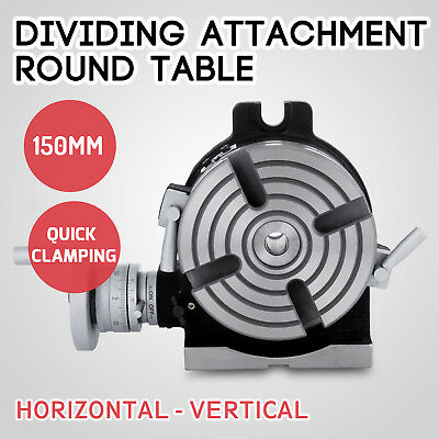 150mm Dividing Attachment Round Table 4-jaw Chuck Plates Vertical Horizontal