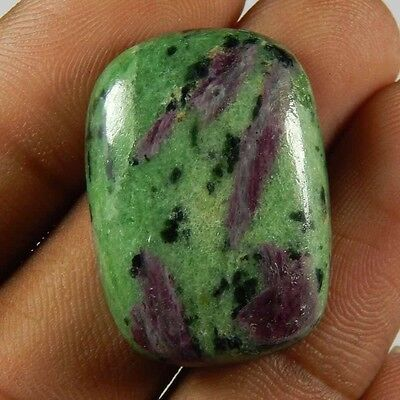 Natural Untrated Ruby Zoisite 68.20 Ct Cushion Shape Loose Top Gemstone Cabochon
