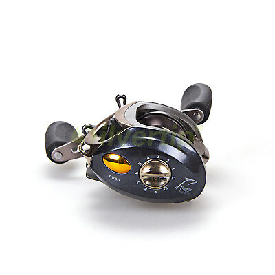 New 12+1 BB 6.3:1 Baitcasting Fishing Reel Bait Casting Baitcast Magnetic Brake