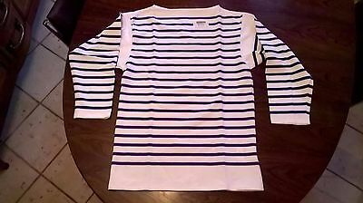 Tricot Raye Marine Nationale  Taille 120/124