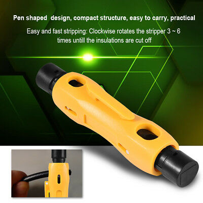Coaxial Cable Wire Pen Cutter Stripper Tool for RG59 RG6 RG7 RG11 Stripping Tool