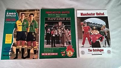 3 Manchester United Shop Catologues