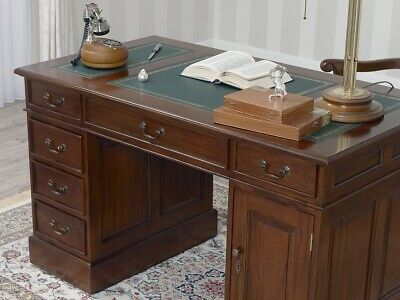 Regency Office Desk VICTORIAN English style 130cm  Partners Pedestal MAHOGANY