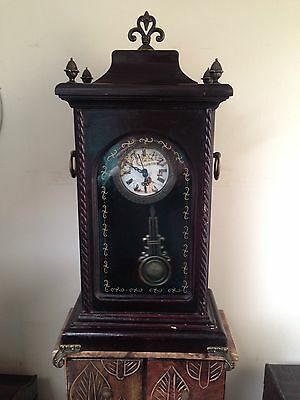 Antique Victorian 19th Century Working Brass And Wood Pendulum Tall Clock.