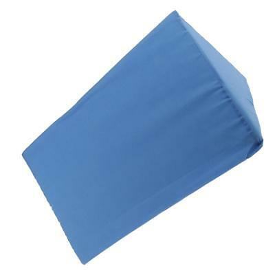 Blue Foam Bed Wedge Pillow Elevation Cushion with Cover Back Lumbar Support
