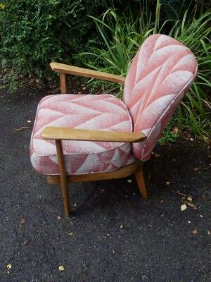 Arm chair, bedroom chair, 1950's. New upholstery.