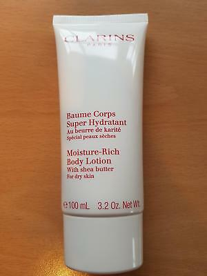 Clarins Baume Corps Super Hydratant Moisture-Rich Body Lotion Shea Butter 100Ml
