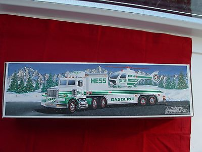 2001 Hess Toy Truck and Helicopter NIB