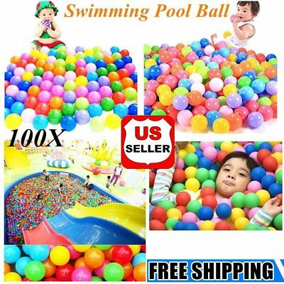 100pcs Kid Baby Soft Play Balls Toy for Ball Pit Swim Pit Ball Pool Colorful  SG