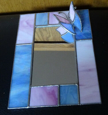 Stained Glass Butterfly Mirror