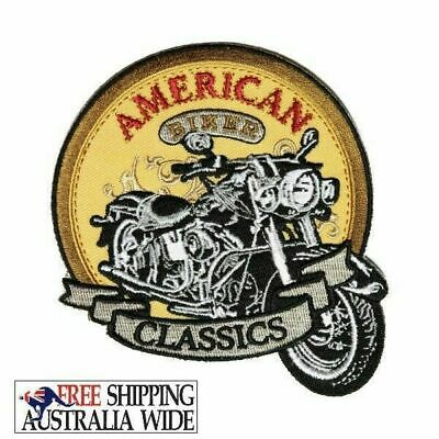 American Biker Classics Embroidered Biker Patch Iron On Rider Motorcycle Vest