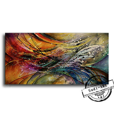 GUDI-Abstract Large Hand-Painted Modern Oil Painting Home Decoration Canvas Art