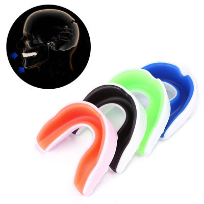 MOUTH GUARD Teeth Grinding Gum Shield Protection Boxing Hockey Roller Rugby Case
