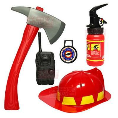 Kids Pretend Role Play House Toys Fireman Children Cosplay Firefighter Toys