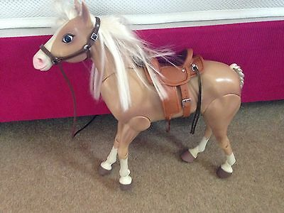 barbie horse With Saddle Light Brown