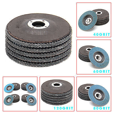 20 X Flap Discs 115mm Sanding Mix Sanders & Grinders 40 60 80 120Grit UK