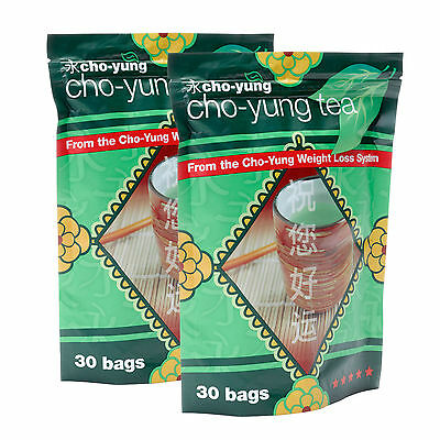 Cho Yung - Weight Loss Tea 60 Green Tea Bags (Slimming Detox & Fat Burner)