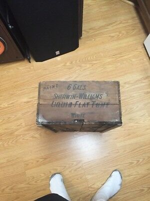 Sherwin Williams Extremely Rare Wooden Box In Good Condition