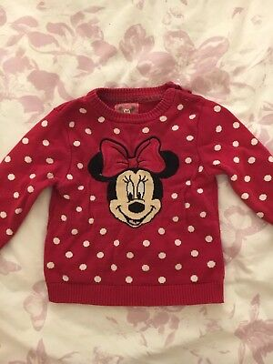 Girls Minnie Mouse Jumper 18-24 Month