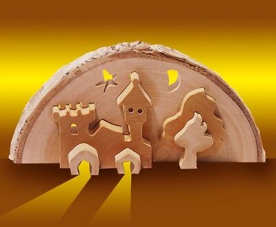 Castle three-dimensional, decoration wooden crib Christmas