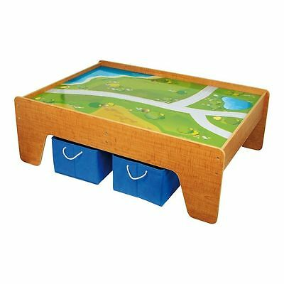 Wooden table from game with plan designed for children