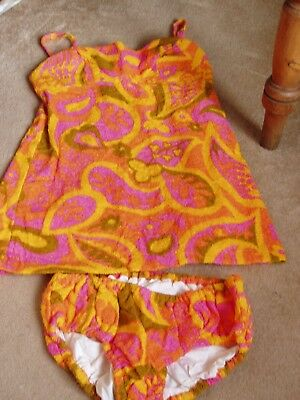 "New Old stock 1970's/70's St.Michael Cotton towelling Swim Top Bust 40"" n Pants"