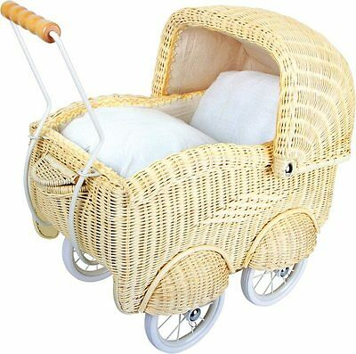 Pram wicker x dolls large structure metal + lingerie,game ba