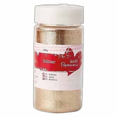 DoCrafts Papermania Large Glitter Pots (250g) - Gold