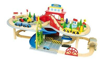 Railroad livelli in wood with accessories, game for children