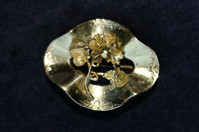 Imperial Russian Antique Solid Gold 56 14K  BROOCH WITH FLOWER.