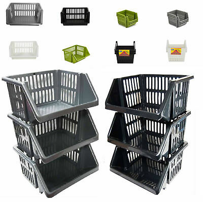 Vegetable Fruit Storage Kitchen Stacking Stackable Basket Rack 1 2 3 4 5 Tier