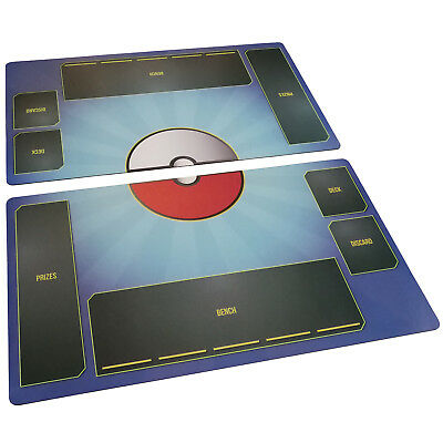 Pokemon Playmat TCG 2 mat set Fabric, Rubber backed - Card Game - Stadium