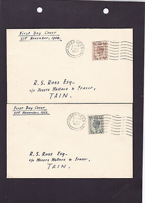 1938 KGVI First Day Covers F.D.Cs 4d & 5d (SG468-469) Inverness postmarks