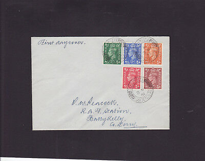 1951 KGVI First Day Covers F.D.Cs Definitive (colour changes) Barry Kelly p.m.