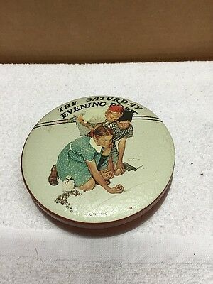 Norman Rockwell Collector Round Tin