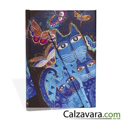 Paperblanks Agenda 2018 Settimanale Weekly 12 Mesi 13x18 Orizzontale - Blue Cats