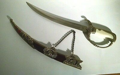 Decorative Roman Gladius With Blade Etchings and Scabbard