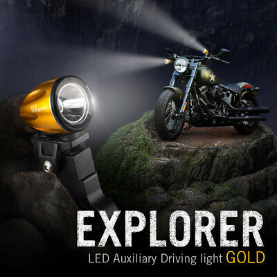 mini LED lampe spot feu de route d'or 22-25mm diameter bar pour Honda Hyosung
