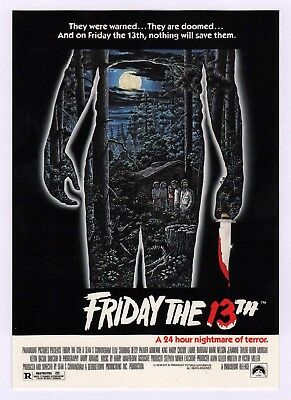 6x Friday The 13th Movie Poster - Postcard (Lot of 6 Postcards)