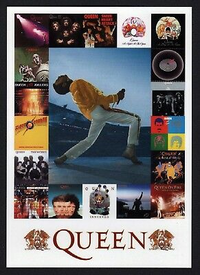 6x Queen: Discography - Postcard (Lot of 6 Postcards)