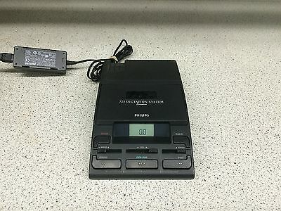 Philips 0725-00 Cassette-Based Dictation Desktop w/Power Supply