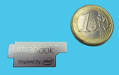 ULTRABOOK  METALISSED CHROME EFFECT STICKER LOGO AUFKLEBER 30x13mm [719]