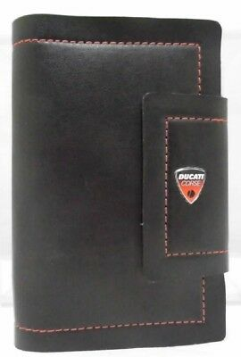 AGENDA Organizer 2018 Ducati Corse Leather Look Organiser Diary Bike MotoGP NEW!