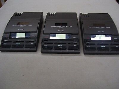 Philips Transcription System 720 - Replacement Units Only - Power On *Lot of 3*
