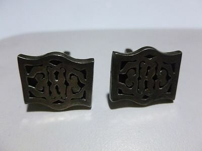 Mens Womens C Molina Of Mexico Mexican Sterling Silver Cuff Links Pair Set Heavy